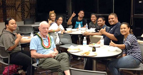 Visiting with recent Xavier alums on the Big Island.