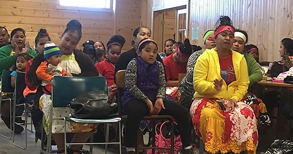 Members of the Chuukese community in Milan, Minnesota.