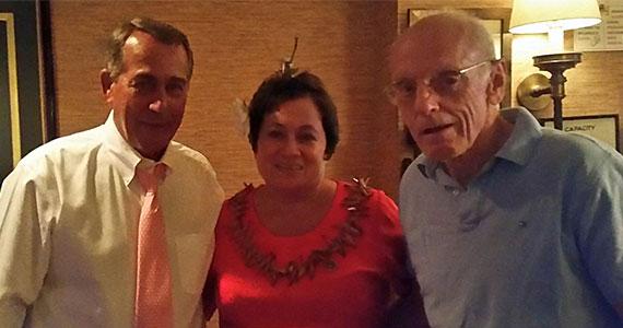 A recent visit to Washington, DC, with Speaker John Boehner and Representative Amata Radewagen.